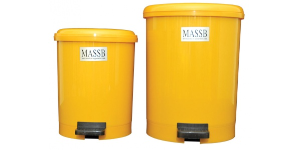 Pedal Operated Clinical Waste Bins Round