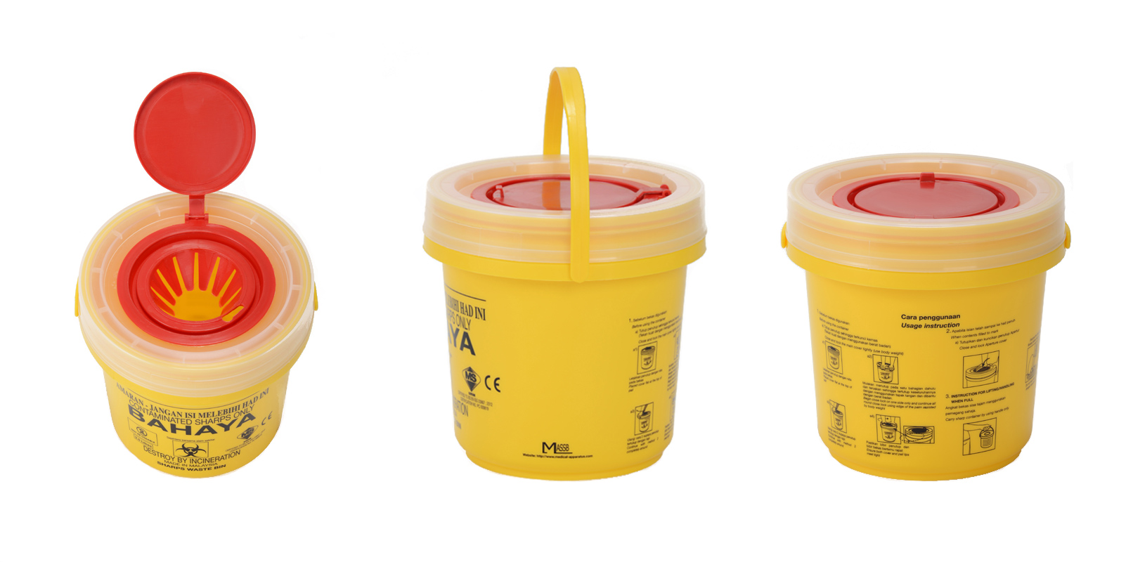 Medical Apparatus Supplies Sdn Bhd - Sharps Waste Bins